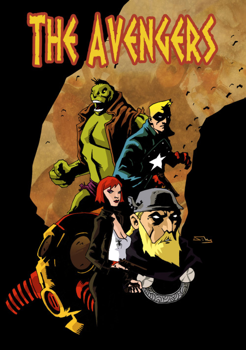midtowncomics:  Avengers x Mike Mignola by Phillip Sevy