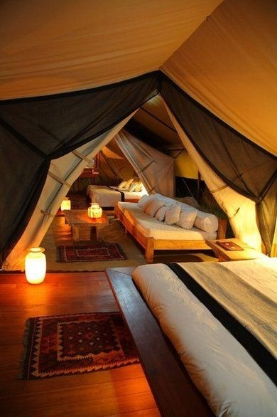 "Attic converted into year round ""campsite""- AWESOME!"
