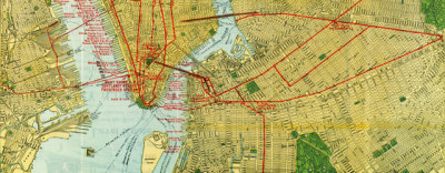 Map: Map of NYC railroads (1918) originally posted to the BIG Map Blog.