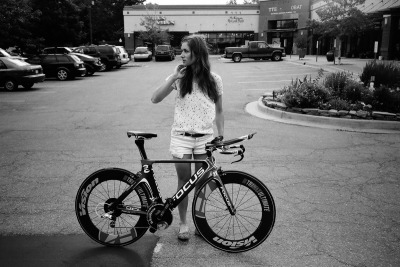 "GIRL ON A BIKE: JULIE KRASNIAK PHOTO © TENSPEEDHERO Fact number one: The internet is filled with, and is a complete sucker for photos of girls on bicycles. Fact number two: One of my biggest peeves are photos of girls on bicycles that you know for damn sure don't belong to them. You know the images I'm talking about. Though the image above might appear to fall into the ""beautiful female on bicycle not belonging to her"" category, do not be fooled. The lovely lady you see is one Julie Krasniak, and the bicycle that accompanies her in the photograph is the one she will be riding in Olympic preparation and the French national time trials. Shouts to all the ladies putting in work. Read more at TENSPEEDHERO -sorry, reblogging again because I'm in love with her"