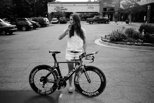 "Got a Girl Crush On: Olympic cycling babe, Julie Krasniak  Fact number one: The internet is filled with, and is a complete sucker for photos of girls on bicycles. Fact number two: One of my biggest peeves are photos of girls on bicycles that you know for damn sure don't belong to them. You know the images I'm talking about. Though the image above might appear to fall into the ""beautiful female on bicycle not belonging to her"" category, do not be fooled. The lovely lady you see is one Julie Krasniak, and the bicycle that accompanies her in the photograph is the one she will be riding in Olympic preparation and the French national time trials. Shouts to all the ladies putting in work. Read more at TENSPEEDHERO   (via cycleangelo) PHOTO © TENSPEEDHERO"