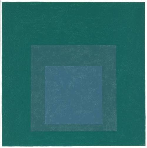 artpedia:  Josef Albers - Study for Homage to the Square, 1964. Oil on plastic and board