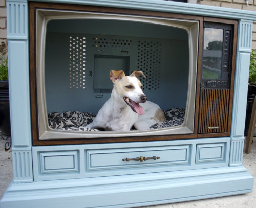 Awesome re-purposing of an old tv!