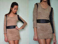 BROWN WITH BLACK LINING DRESS | P250.00 AVAILABLE To order, copy item code (WD47P250) and send order form here.