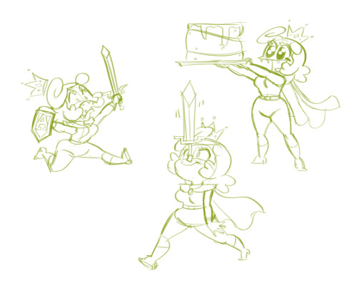 Just a few lil ole warmup drawings. Cake would make a good power-up item, no? -Severin
