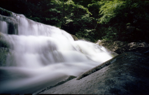 Pinhole: Laurel Creek Cascade on Flickr.Facebook | Blog | Tumblr | Twitter Zero Image, f235, Kodak Portra 160, about 1 minute Laurel Creek runs alongside the road from Townsend to Cades Cove in Great Smoky Mountains National Park. This cascade, one of several along the creek, is about 8 feet tall.