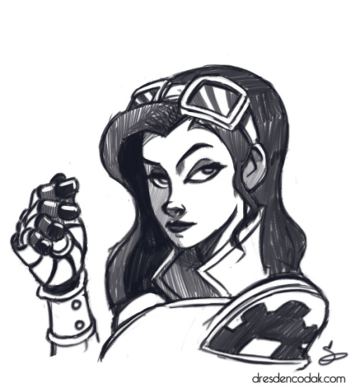 Warmup drawing: Asami Sato from Legend of Korra. She's probably my favorite character if only because in a lesser show it would be so easy to make her one-dimensional and hateable. Not in this one, though, she's pretty great with a sharp style to contrast from the other main characters. Although I don't know why she hasn't dumped Mako and hooked up with Korra, yet. Maybe that will be in season 2.