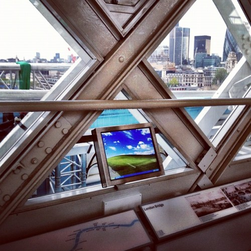 Highlight of Tower Bridge: Windows XP. (Taken with Instagram at Tower Bridge)
