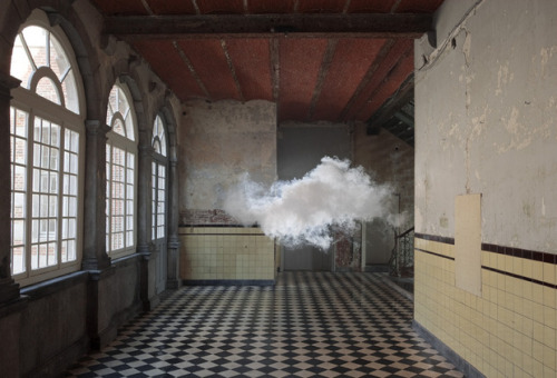 Berndnaut Smilde, Nimbus D'Aspremont, 2012, Lambda print , Kasteel D'Aspremont-Lynden, Rekem, BE. Photo: Cassander Eeftinck Schattenkerk. Courtesy of the artist.