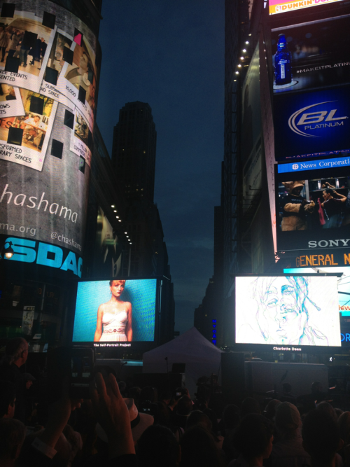 The Self-Portrait Project in Times Square, June 18, 2012. Part of Artists Wanted's Art Takes Times Square initiative, and supported by chashama & the Times Square Alliance