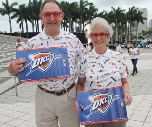Old OKC Fans Dressed Like Russell Westbrook Doesn't look as cool on them for some reason.