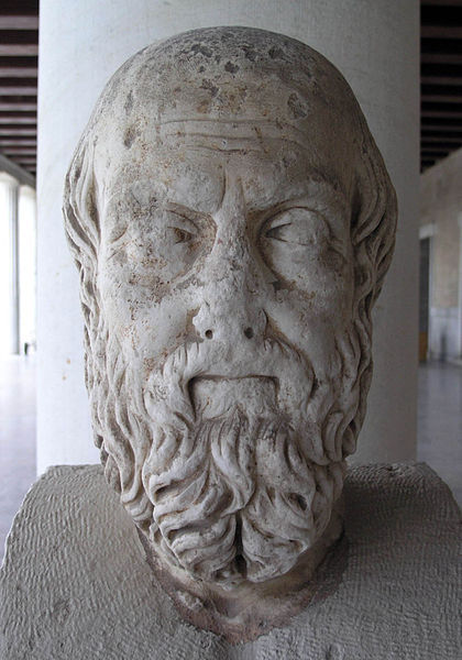 "ancientpeoples:   Herodotus Herodotus is often referred to as the ""father of History"" in so far as he seems to be one of the first ""historic"" writers. However I would be inclined to called him the ""grandfather of History""…or maybe the ""slighty mad uncle in the corner at parties of History"". Some of the accounts, or stories, in his ""Histories"" are particularly fanciful. This has led to his other nickname ""The father of Lies"". This is unfair. Herodotus' work literally means ""Inquires"", they are him exploring the origins of the Greco-Persian Wars (along the way covering other subjects like geography, anthropology, ethnology, zoology, fables and folklore) where he inquires and reports back all he has heard. Things are worth reporting primarily if they are interesting, not just if they are true or not. His focus is on the achievements of mankind, not of the gods and heroes like epic poetry, and of great and marvellous deeds (by all peoples and even in nature like the Nile inundation.) He attempts to build a full a picture as possible, using these of the build up to the War and then the War itself. I want to share some of the brilliant and strange stories which turn up in Herodotus' work. They are testament to the fantastic imagination of mankind. All these examples come from Book II (the Egyptian logoi). I'll probably do some more examples another time. On the Nile (2.19-27) He gives to following reasons for the Nile flood: 1. Winds- North winds blow, preventing adequate flow to the sea. (Herodotus argues that this incorrect because it floods even if the winds fail and the winds have no effect on other rivers) 2. It flows from the great Ocean that encircles the world (a more legendary explanation apparently) 3. It's caused by melting snow (this is apparently just as worthless a theory as the others because the countries the Nile comes from are hotter than Egypt) 4. Displaced water from other rivers because the sun changes his path in different seasons (H's own theory, I love ancient Greek logic)  On the Egyptians being weird (2.35-8) 1. The women go to market and men stay at home and weave. Women even urinated standing up and men sitting down.  2. They knead bread dough with their feet and clay with their hands and even handle dung (the horror!) 3. They are religious to excess, and make a point of washing cups and clothes (how dare they!), they even circumcise themselves to be clean rather than comely (I love my translation) On the Hippotamus (2.71) 1. It has 4 legs, cloven hoofs like an ox, a horse's mane and tail, conspicuous tusks, a voice like a horse's neigh, and is the size of a very large ox (I am really not sure if he ever saw a hippo from that…) On the Phoenix (2.73) 1. Visits every 500 years when its parent bird dies. Its gold and red and shaped exactly like an eagle.  2. One story says it carries a lump of myrrh to make into a kind of egg coffin for its dad and then buries it in the temple of the sun (Herodotus doesn't find this credible surprisingly) On flying Snakes (2.75-6) 1. Opposite Buto there are loads of skeletons of flying snakes piled up in a mountain pass. The snakes try to migrate into Egypt from Arabia but the ibis greet them at this pass and kill all of them. 2. They have wings like a bat.  Blind Pheros 1. Pheros was a King of Egypt who went blind. He had got angry at the river for flooding too high and thrown a spear at it. (which of course made him blind…) 2. After 10 years the oracle at Buto said he'd served his punishment and would be cured if he washed his eyes out with the urine of a woman who had never slept with any man except her husband. So he tried his wife's urine…didn't work (awkward), then many many many other women…eventually one worked and he could see again (huzah!). 3. All those women whose urine failed were collected together and burned. He then married the lady whose pee worked (I wonder what ever happened to her husband…)  The Clever Thief 1. Once there was a very rich king who put all his silver in an elaborate treasury. The builder eventually died, but on his death bed he told his 2 sons about a secret door. The brothers used it and eventually the king noticed. He hid some traps inside the treasury. Next robbery one brother got caught in the trap. He begged his brother to chop off his head so that the king wouldn't recognise him and the brother could carry on as normal. So the brother did and the king found a headless corpse in the trap. 2. The king hung the body up and had it guarded trying to spot the thief should he come and mourn. The thief's mum was angry and wanted the body of her son to bury. She nagged the remaining brother. He got the guards very very drunk and stole the body, he even shaved the right cheek of each of the guards. 3. King was very angry. So he order his daughter to join the local brothel and ask every man who came to her what was the cleverest and wickedest thing they had ever done in the hopes of catching the thief. So eventually the thief arrives. But he has heard about the king's plan and so cuts off the arm of his corpse and goes to see the princess.  4. He tells her about cutting off his brother's head (wickedest thing) and getting the guards drunk (cleverest thing). She quickly grabs him and calls her father, but she grabs the corpses arm and the thief escapes. 5. The king is impressed. He sends out a message that the thief is forgiven as he is clearly the cleverest man ever. Thief appears and marries the prostituted princess. (Yay for happy endings.) Cheops and his Pyramid 1. He closed all the temples and made all his people slaves. He made them build his pyramid. 2. He ran of money so made his daughter a prostitute. She charged each punter one stone. These were made into the middle pyramid at Giza. Well there we go for now, I hope you have enjoyed reading a few of these. The ancient writers tell some really amazing stories and hopefully I'll get round to writing a few more of these. Like the one-eyed men chasing griffins, or the gold digging ants of India, or the queen who went too far and chopped off the breast of all the women in a town and hung them up on the walls as their husbands were slowly impaled beneath them… but its ok the queen ends up being eaten by worms."