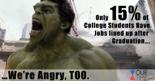 According to AfterCollege, only 15% of college students have jobs lined up after graduation.  Let's change that! Go to www.onemillionnewjobs.org to create one million new national service jobs! REBLOG this to spread the word!