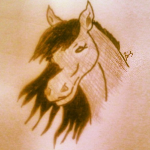 A quick #Horse #Drawing (Taken with Instagram)
