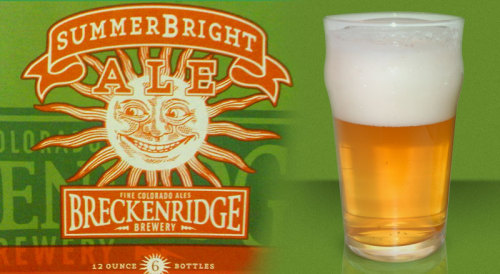 #359: SummerBright Ale – Breckenridge Brewery, Breckenridge, Colorado I had every intention of trying this beer last summer, but for whatever reason I never really got around to it. I think I was never entirely swayed by the wave of summer beers that made their way onto shelves last year. Not that they weren't good or of high quality, but I think I was ushered too quickly out of porter season. It was a shock treatment that I wasn't prepared for. But this summer, I'm ready. So let's do this. Breckenridge SummerBright is brewed with Two row Pale, White Wheat, Carapils, Munich malt, and hopped with Fuggle, Cascade and Willamette. 4.5% ABV. From the happy-faced sun can, we get a beer that certainly looks the part relative to what it's made for; a transparent straw gold, a head of white foam, and very, very subtle carbonation, as a modest bubble stream or two slowly trickles up from the base of the glass to the head. Bright orange and lemon come right off the top and into the nose, followed by some soft bready notes. It's quenching, it makes one happy. It does what it's designed to do, but for me there's a few unpleasant sequences surrounding the parts of the beer that I do enjoy. Let's start off with the good. Flavors are fine enough. It's not sickly in terms of fruit flavor like a lot of poorly made American-style wheat beers can be. Quite modest instead, with some juicy lemon and orange flavors, wrapped in some subtle bready flavors, and just a subtle bite from carbonation. Up front, nothing offensive really. On the way down, though… eh. Kind of acrid. Harsher than it ought to be, and it leaves an unpleasant metallic tang on the throat that is often undesirable. The Verdict: Not my first choice as summer beers go. Nor would it be my second or third. But it ain't flat out bad, either.
