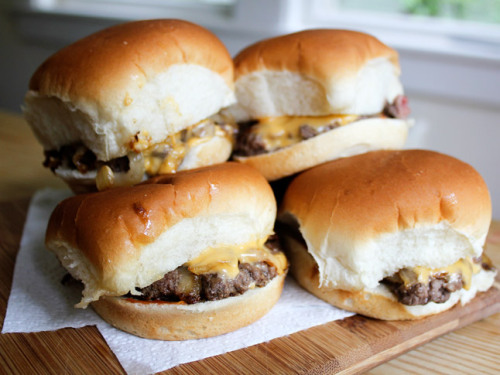 foodopia:  diner-style cheeseburger sliders: recipe here