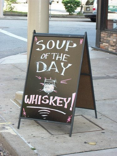 Guess ill have the soup of the day.