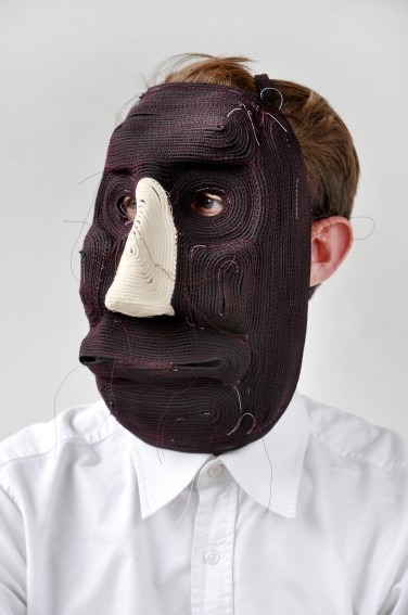 This mask project started out as an experiment with materials. Studio Bertjan Pot was trying to make large flat rugs but when the samples curved they decided it was masks they were making. I love it when projects end up in entirely different place from where the original idea started. Check out more masks and make your own… or take this idea and makes something very different.