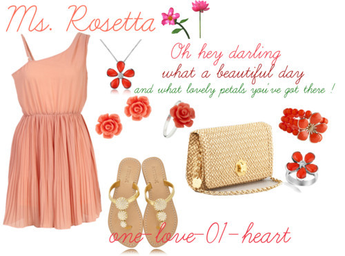 Ms. Rosetta: What lovely petals darling by one-love-01-heart featuring sterling silver stud earringsPink chiffon dress, $44Mystique strap sandals, €118Eric Javits straw clutch, $450Del Gatto gold jewelry, $1,298Del Gatto gold collar necklace, $845Van Peterson 925 sterling silver stud earrings, £20Van Peterson 925 flower jewelry, £16Enamel jewelry, £3