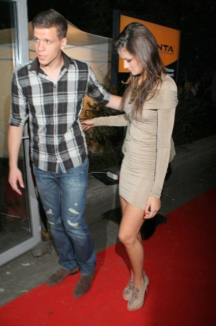 Robert Lewandowski with his girlfriend at the Playboy party. They were accompanied by Wojciech Szczesny with a girl.