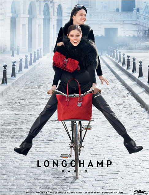 I'm happy to show you the first image from my new Longchamp campaign with Emily Didonato for FW 12/13 shot by Max Vadukul.