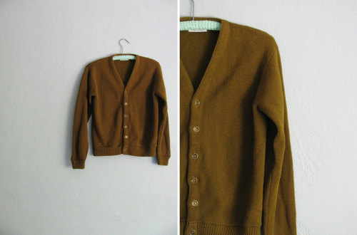 brown knit cardigan at darling vintage