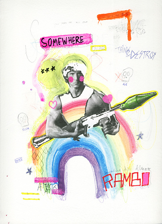 Personal work - Somewhere over the Rambo (24*32cm)I'll keep messing with stuff like that until I get the hang of it.