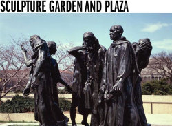 Don't forget to visit the Sculpture Garden located on the side facing the National Mall, across Jefferson Drive. You'll encounter the work of some of the best-known artists of our time, including Rodin, Ono, Calder, and more. The cool green spaces and geometric reflecting pool offer an atmosphere of contemplation and retreat. Click here for more information.