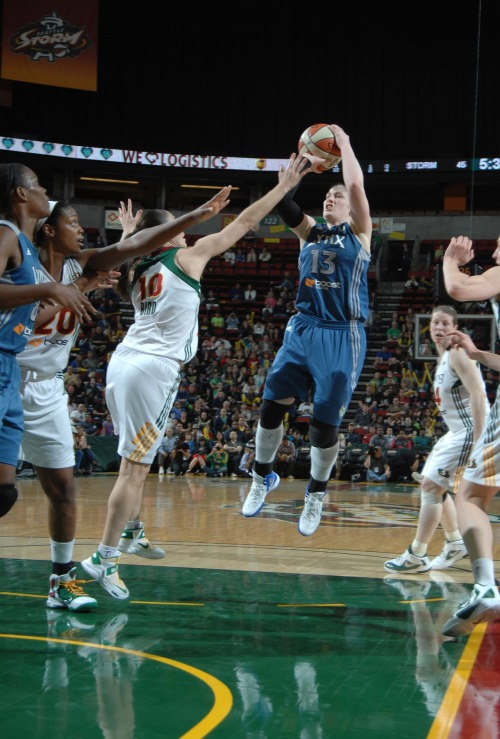 Lindsay Whalen goes up for a jumper in traffic. (Photo by Terrence Vaccaro/Getty Images) There's a Lynx home game tonight! Minnesota hosts the New York Liberty at 7 pm.