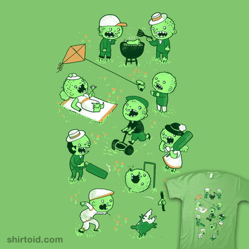shirtoid:  Lawn of the Dead available at Threadless
