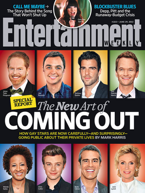 entertainmentweekly:  This Week's Cover: The New Art of Coming Out in Hollywood