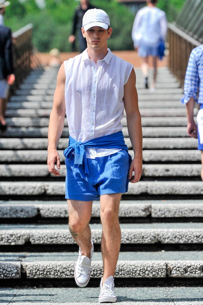 Paris-based designer Alexis Mabille presented his Spring/Summer 2013 collection in Florence during Pitti Uomo. The collection featured sophisticated madras print that complemented the relaxed looks.