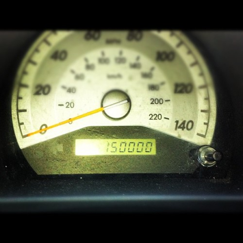 That moment when you're car turns 150,000 miles old… #sigh (Taken with Instagram)
