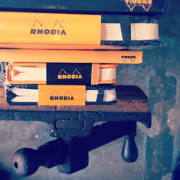 Dunderdon Rhodia notepads (Taken with Instagram at Dunderdon)