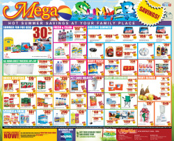 Print ad for MegaMArt's Summer sale promotion