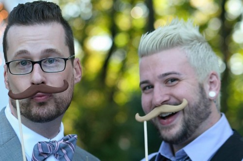 deltrice-royale:  fuckyeahgaycouples:  My boyfriend and me at a wedding last year! 2 years and counting! I'm on the right he's the left! :]  Gay.  SO GA.Y Not even cute at all. Nope , not at all./