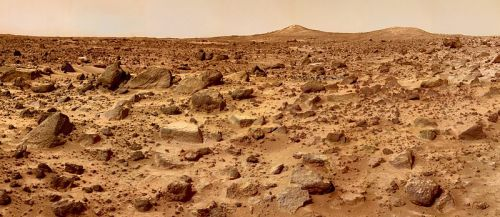 Mars surface,by Sojourner robot.
