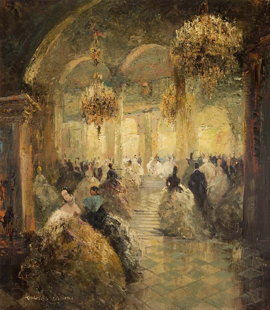 poboh:  Opera Ball, Ludwig Gschossmann. Germany (1894 - 1988)