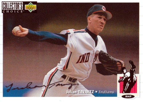 Random Baseball Card #1116: Julian Tavarez, pitcher, Cleveland Indians, 1994, Upper Deck.