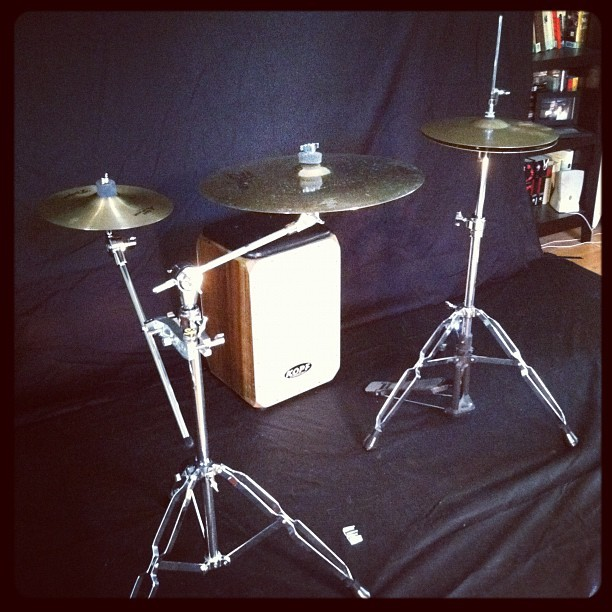 Playing #cajon  with cymbals. Coming soon. #drums #percussion (Taken with Instagram at playcajon.org HQ)
