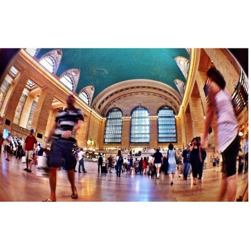 #grandcentralstation #nyc #fisheye #phoneography (Taken with Instagram)
