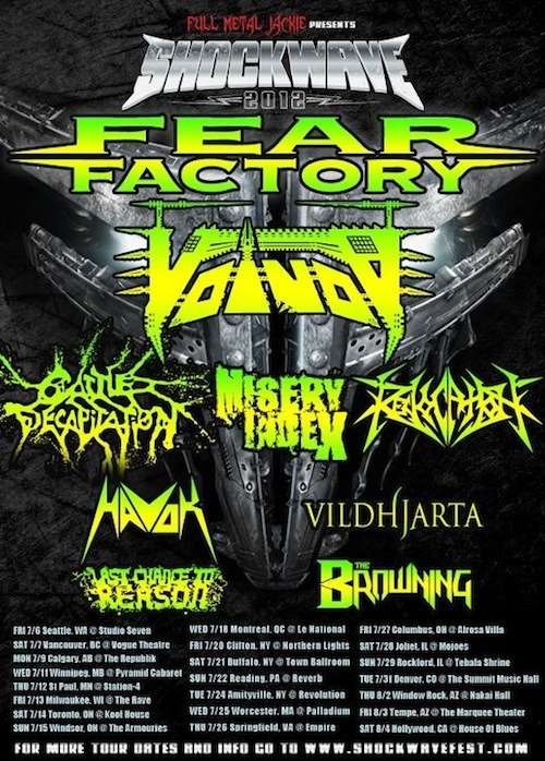 earache:  Shockwave 2012 Tour Line Up has Changed but you can still catch The Browning on it - here is the new line up