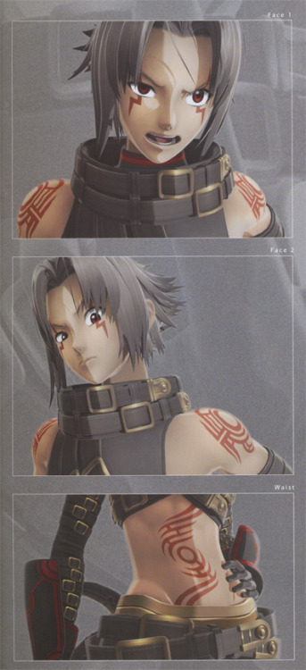 First form Haseo, from the Trilogy artbook. I'm…not sure why they dedicated a panel just to his waist. But nor am I complaining about it.