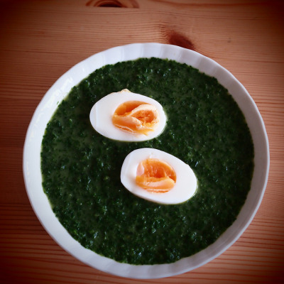 Spinach soup by petrusko.rm on Flickr.