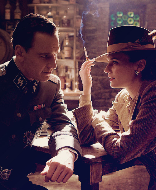 bigbigheavy:  Michael Fassbender and Diane Kruger in Inglorious Basterds