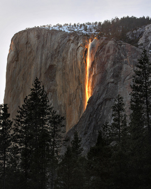 inspirens:  Horsetail Firefall by Rob Kroenert on Flickr.