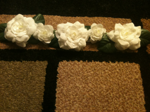 First headband sold! C: I have a feeling people are going to buy white flower headbands more than the others….