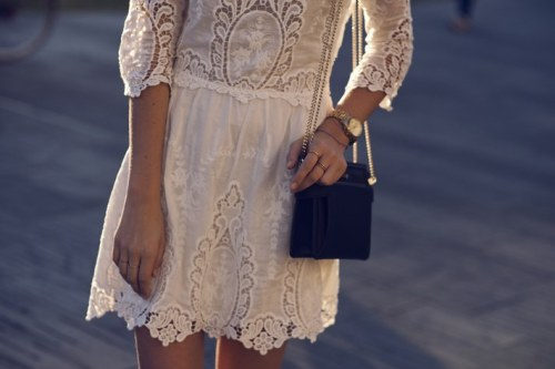 what-do-i-wear:  Dolce Vita dress, Zara  handbag, Michael Kors watch, Cos bracelet (image: tuula)