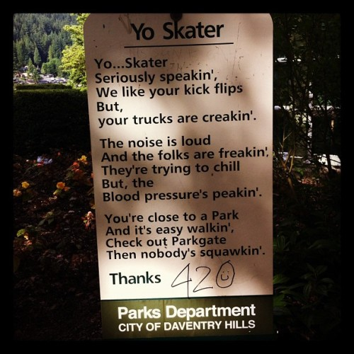 #communication, #skateboarding, #deepcove, #vancouver (Taken with Instagram)