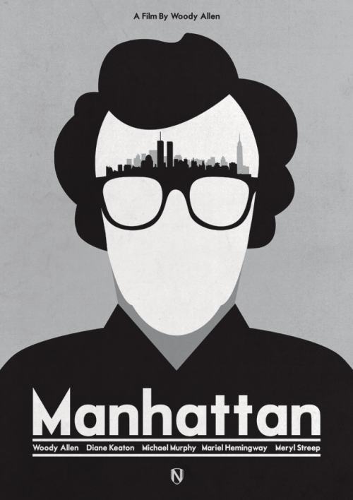 A print Inspired by Woody Allen's 1979 film Manhattanby Needledesign | Buy Print